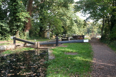 Woodham Lock Basingstoke Canal
