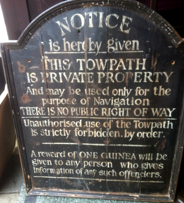 towpath sign