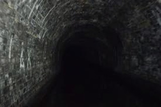 inside tunnel